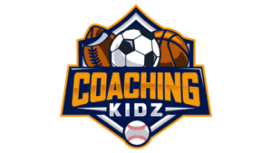 The Coaching Kidz website logo, featuring a football, soccer ball, basketball and baseball.