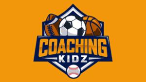The Coaching Kidz website logo, featuring a football, soccer ball, basketball and baseball.