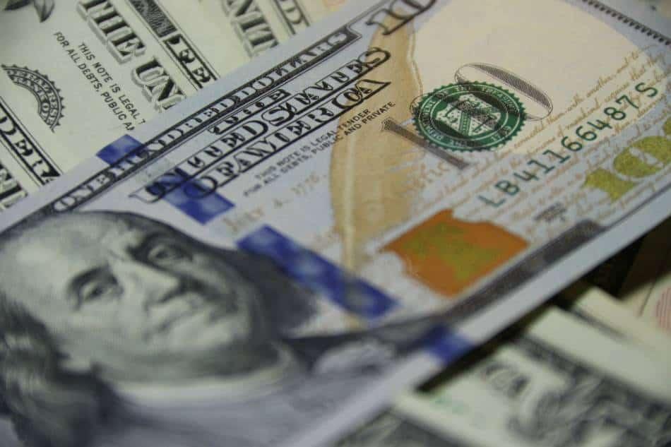 Stack of $100 bills.
