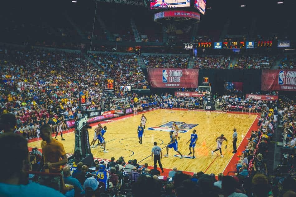 Summer league basketball game.