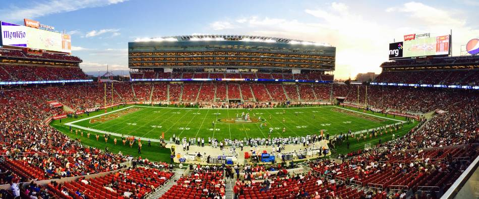 Second deck view of the 49ers Candlestick Park.
