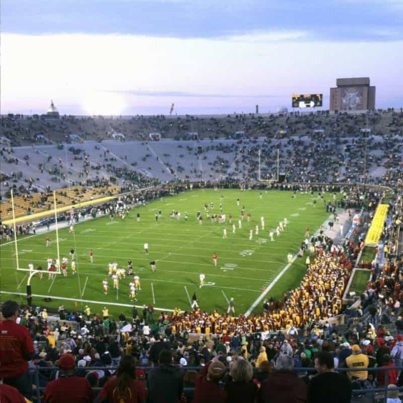 Photo of the USC Trojans hosting a game in the Rose Bowl.
