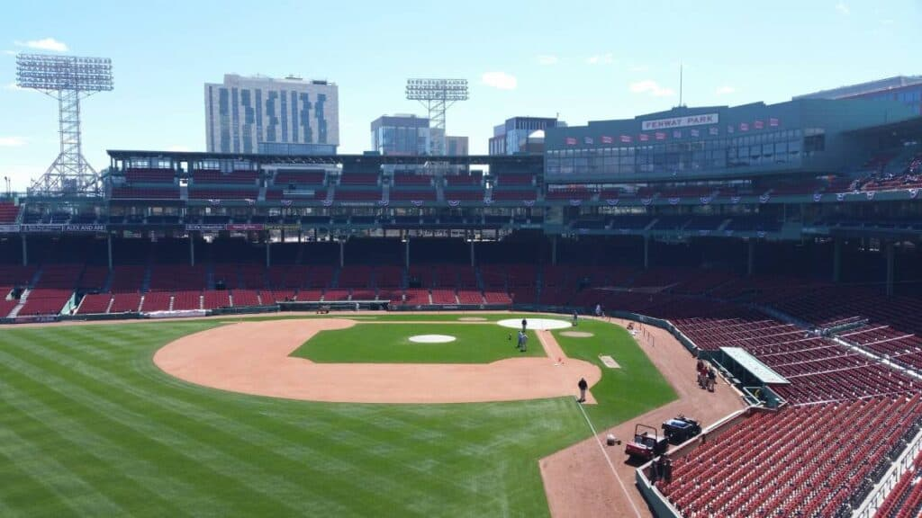 Photo of Fenway Park from the Green Monster.