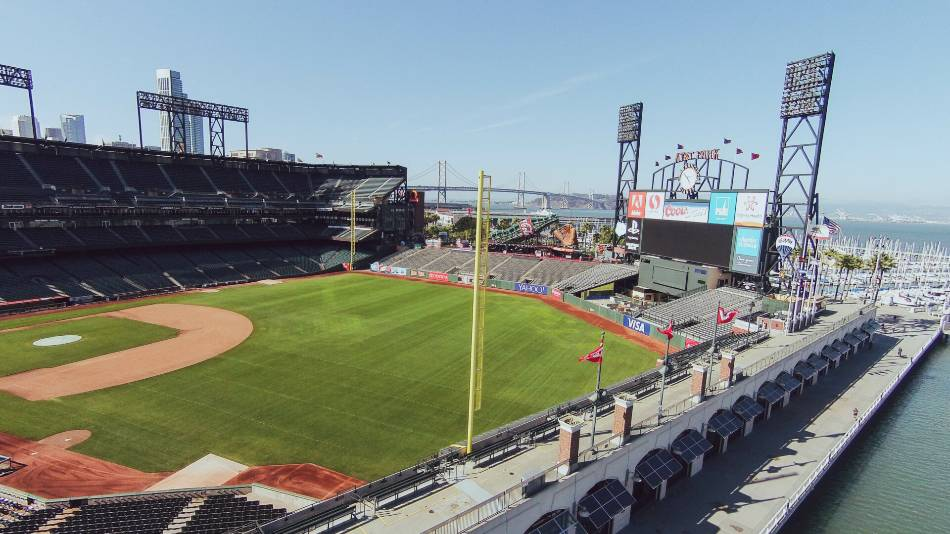 A view of AT&T Park.