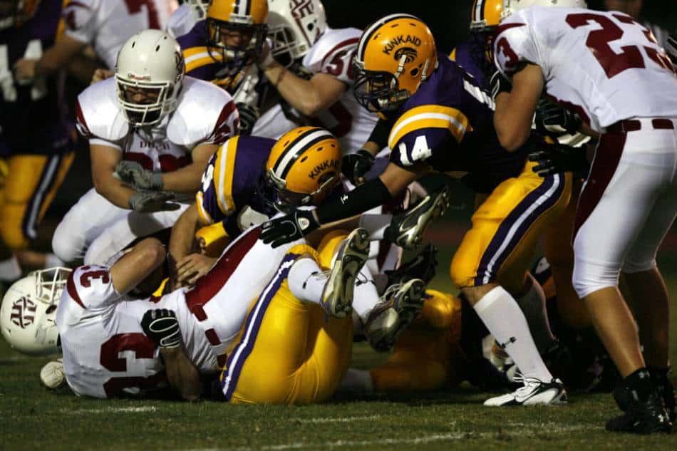 A pile at the line of scrimmage.