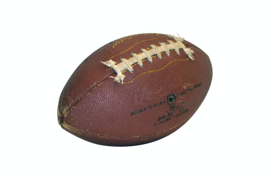 A weathered football.
