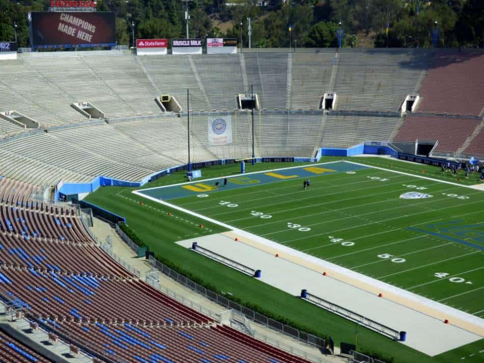 A view of UCLA's football stadium.
